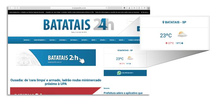 Utilização de API Batatais 24h
